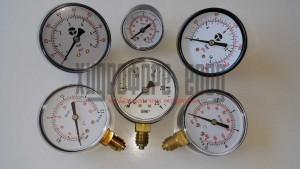Радиални и аксиални сухи манометри , до 40 bar